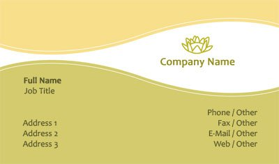 Green and Yellow Logo Business Card Template